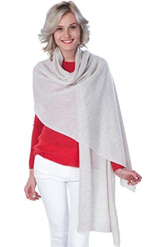 cashmere 4 U Sciarpa Extra large - 100% Cashmere - Scialle ricamato per donne