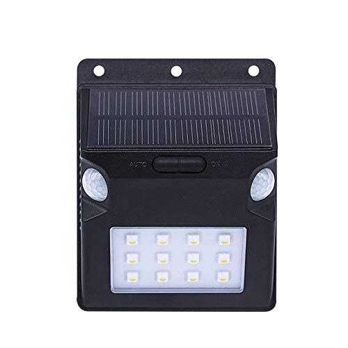 NIAI Solarleuchten im Freien, Bewegungsmelderleuchten, IP65 wasserdicht, LED-Solarleuchte for Treppenstufen, Hof, Garten, Garage, Terrasse