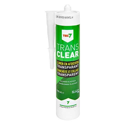 Tec7 Trans7 Klebstoffe / Universalkleber | Kleben, Montieren und Abdichten | Transparent | 310ml | Einfach zu verarbeiten und für viele Materialien, auch feuchte Untergründe