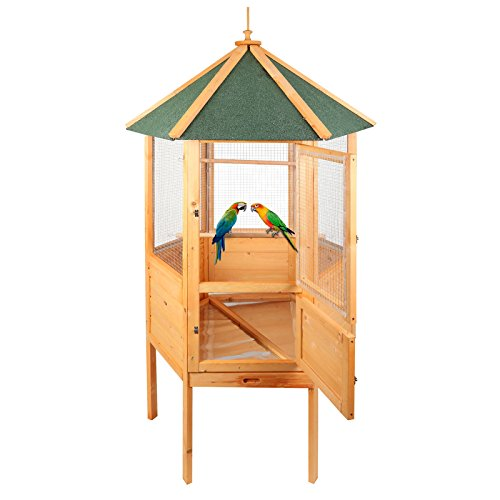 Magshion 70 Hexagonal Wooden Aviary with Feed Door