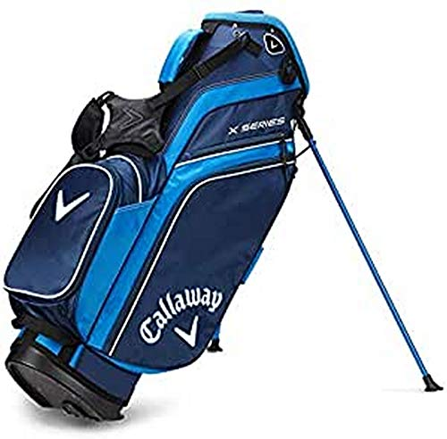 Callaway Herren X-Serie Standbag Golf, Herren, Golftasche, 5119278, Marineblau/Königsblau/Weiß, Einheitsgröße