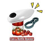 SOWLFE Apribottiglie Elettrico, apriscatole Automatico Portatile, a Batteria, Un Tocco e Vai in Sicurezza e Facile Apertura Strumento, Pulsante per Aprire Le lattine