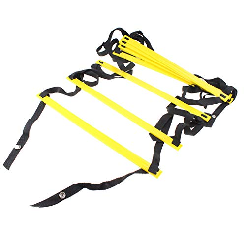Muranba Durable Agility Ladder Speed Soccer Football Fitness Feet Training Yellow