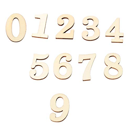 SDENSHI Números de Madera de 10 Piezas: Números de Manualidades para Niños, Juguetes de Aprendizaje, Regalo, 0-9