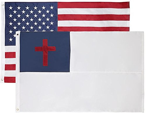 Christian + USA – 3x5 Feet, Stunning Oxford 200D Heavy Duty Nylon, Durable and Long Lasting – Vivid and Fade Resistant