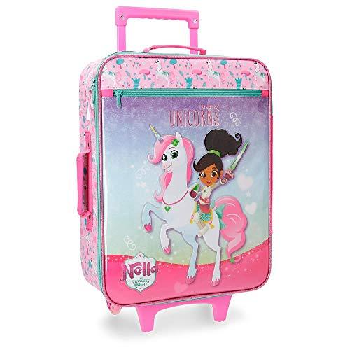 Nella Dreams of Unicorns Maleta de cabina Multicolor 33x50x18 cms Blanda Poliéster 25L 1,8Kgs 2 Ruedas Equipaje de Mano