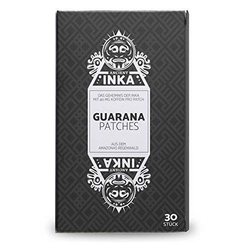 Guarana Patches 40 mg Koffein 30 Transdermale Pflaster • Energie & Konzentration • Kaffee-Alternative