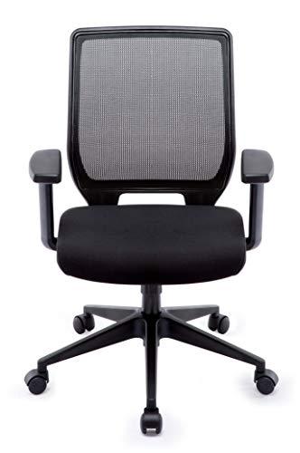 IntimaTe WM Heart Sedia Ufficio ergonomica per Studio pc sedie Computer con Ruote (nero02)