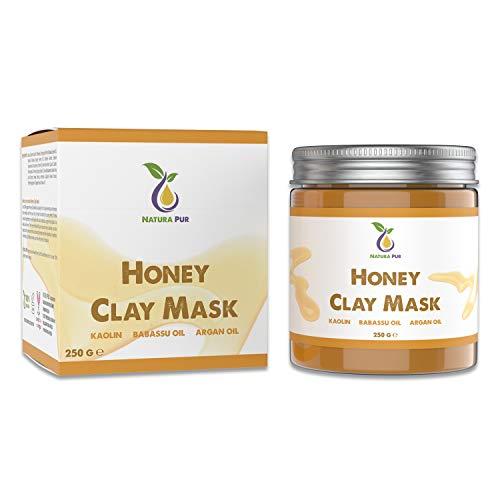 Maschera Viso al Miele 250g - Maschera viso purificante anti brufoli, comedoni, punti neri e acne - Trattamento anti-età per la pelle secca e impura o grass