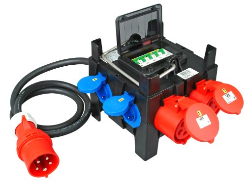 Kopp 128904006 CEE mobiele verdeler CEE-stekker / 4 stopcontacten en 1 x CEE-stopcontact
