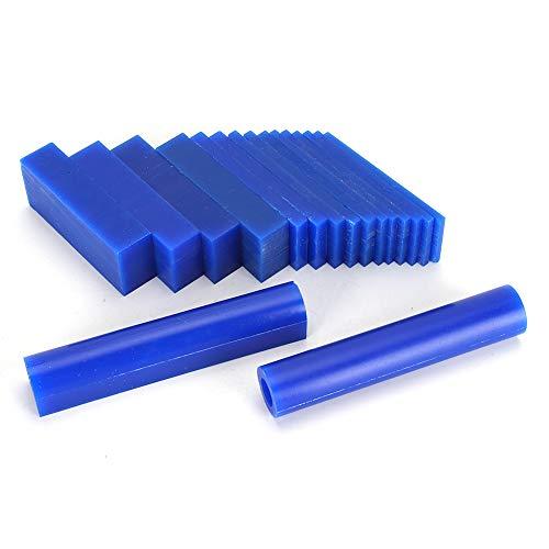 Geschnitzter Wachsblock Blau, 2 Wachsröhrchen +15 Wachsstücke (1 Karton), Hartwachs-Innenwand glatt, geeignet für Schmuck, Ringherstellung, Schnitzen