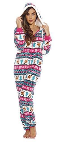 6291-L Just Love Adult Onesie / Pajamas, Moose Love (Plush), Large