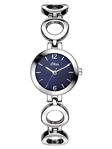 s.Oliver Damen Analog Quarz Armbanduhr SO-3015-MQ