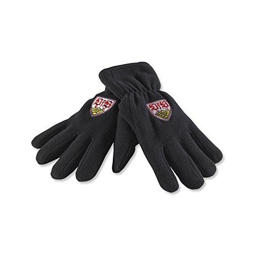 VfB Stuttgart Handschuhe Thinsulate schwarz mit Wappenstick Verschiedene Größen (Erwachsene) (M)