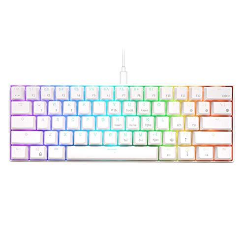 Bybo RK61 60% Bluetooth/cable mecánico Gaming Teclado RGB,...