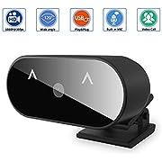 SUPCHON Webcam, Webcam mit Mikrofon für PC, Full HD 1080P USB Webcam für Windows, Laptop Videoanrufe, Spiele, Live-Streaming und Konferenzen mit Drehbarem Clip Web Camera