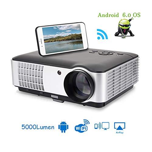 JASZW Bewegliches Film-Projektor, 4000 Lumen-Projektor mit Full HD 1920 * 1200 Auflösung für Home Entertainment Cinema Büro Kompatibel mit USB/HDMI/VGA/AV
