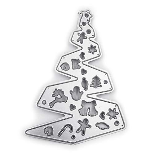 Rongzou snijden Dies Stencil - Kerstboom Metaal voor kaart maken Decoratieve Embossing Papier Kaarten Stempel DIY