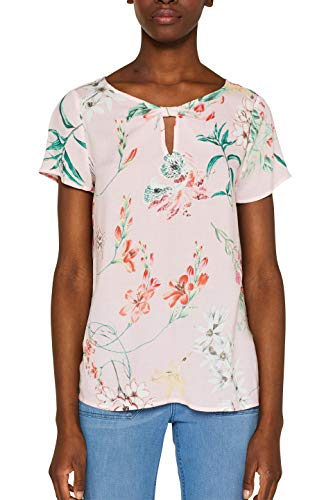 ESPRIT Collection Damen 049EO1F002 Bluse, Rosa (Light Pink 690), (Herstellergröße: 36)