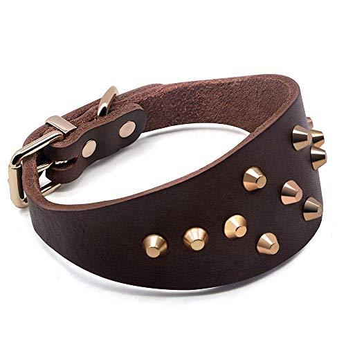 Tineer in Pelle Regolabile Greyhound Collare di Cane Personalizzati con Borchie Rivet Collana del Cane Collare Durevole Accessori per Animali