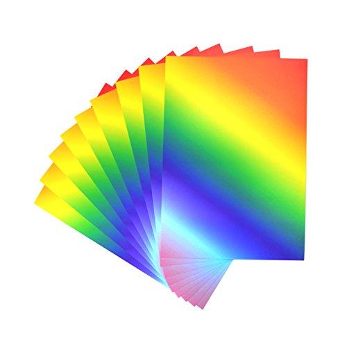 CI 50Blatt in Lebendigen Rainbow A4Karte Gedruckt
