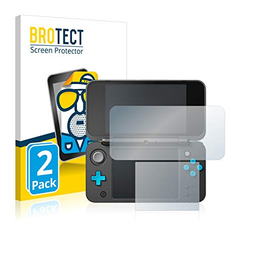 BROTECT 2X Entspiegelungs-Schutzfolie kompatibel mit New Nintendo 2DS XL Displayschutz-Folie Matt, Anti-Reflex, Anti-Fingerprint
