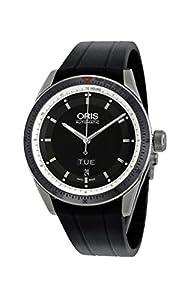 Oris Artix GT Day Date Black Dial Automatic Rubber Strap Mens Watch 735-7662-4154RS image