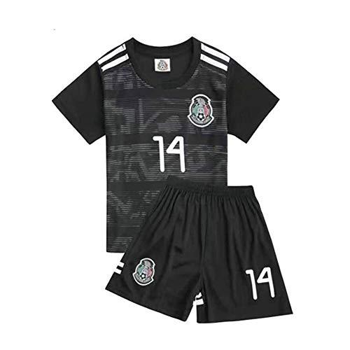 Fußball Trikot Chicharito #14 Offizielles Heimtrikot, Saison Für Herren, Kurzarmshirt,Schwarz,2 Years