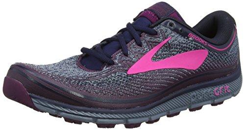 Brooks PureGrit 6, Zapatillas de Running Para Asfalto Para Mujer, Multicolor (Navyplumpink 1b418), 43 EU