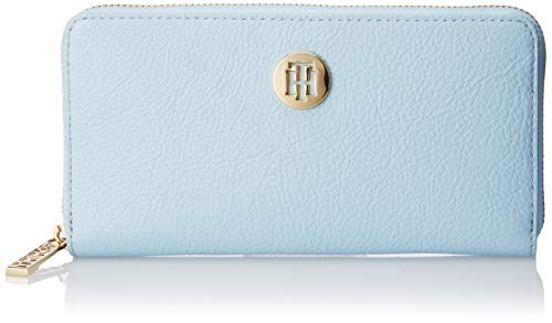 Tommy Hilfiger Damen Th Core Lrg Za Wallet Geldbörse, Blau (Omphalodes), 2.5x10x19 cm