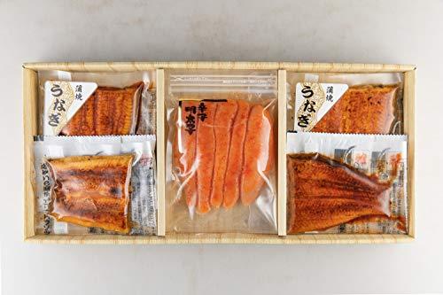丸市食品 うなぎ蒲焼き & 辛子明太子 詰め合わせ [冷凍食品] レンジで簡単 うなぎ 明太子 ギフト