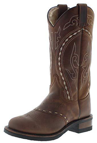 Sendra Boots Damen Lederstiefel 8325 Tang Lammfellfutter Braun 36 EU