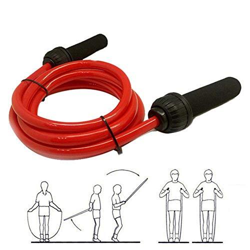Gewichts-Springseil - 1,5 kg - 14 mm Durchmesser aus massivem PVC - Schweres Springseil mit rutschfesten Memory-Schaum-Griffen für Fitness-Workouts Ausdauer- und Krafttraining 400 g (0,9 lb) - 10 mm