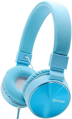 Ultraudifonos Gorsun Stereo Lightweight Foldable Corded Headphones Adjustable Headband Headsets product image