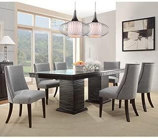 Homelegance Chicago 7 Piece Pedestal Dining Room Set In Deep Espresso