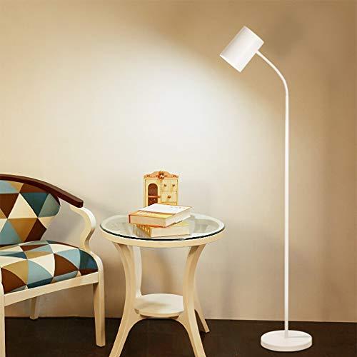 Staande lamp wit verstelbare vloerlamp voor Goosenhoek woonkamer slaapkamer moderne LED vloerlamp 142 cm 01-18