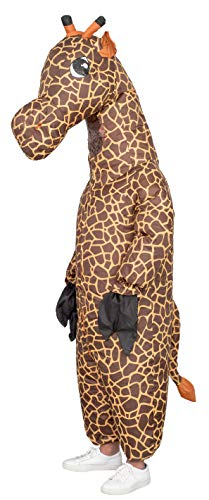 Giraffe Inflatable Halloween Costume Cosplay Jumpsuit (Teen) Brown