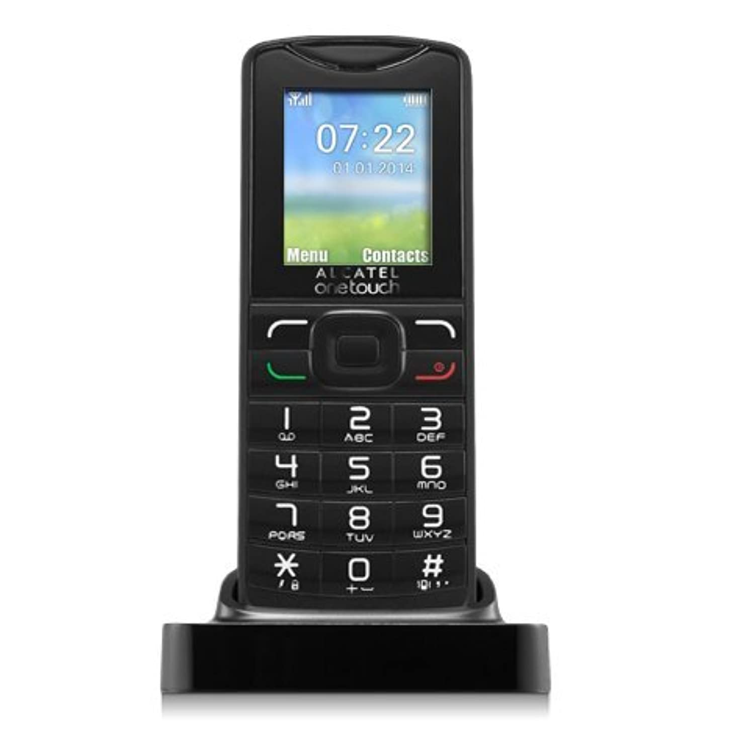 Cellphone Alcatel GSM 2G Unlocked F102 Large Buttons w/ Cradle SMS Radio FM