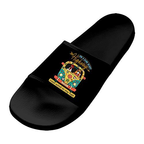Shoes Unisex Non-Slip On A Dark Desert Highway Fashion Slide Sandals Indoor & Outdoor Slippers Men 11 (M) US
