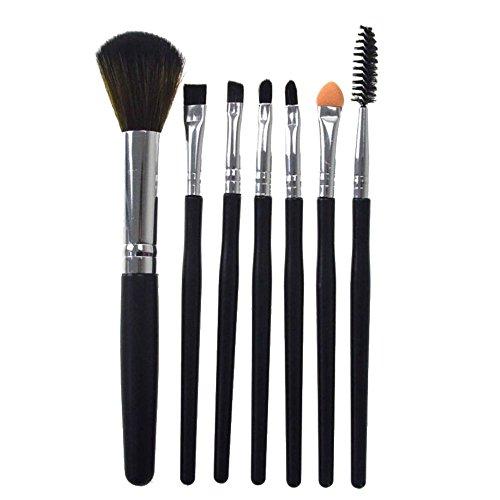 Youdong 7 pcs Pinceau de Maquillage en Silicone Fard à paupières Pinceau cosmétique Outil de mélange Pinceau pour Le mélange de Fondus Poudre de Fard à Joues Blush Concealers pinceaux