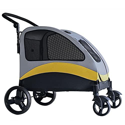 ErLaLa Cochecito para Mascotas para Perros Grandes,cochecitos para Perros,Gatos,Ancianos discapacitados,Viajes al Aire Libre,carritos Plegables
