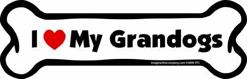 Car Magnet-Bone-I Love My Grandogs- 2' x 7'