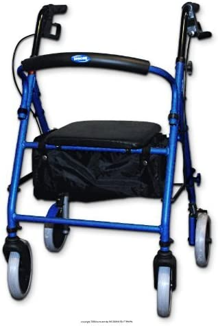 Soft Seat Aluminum Rollator online Max 67% OFF shopping Blue Back Round with