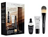 Lancome 2020 Flawless Foundation Kit, mini Advanced Genifique Youth Serum, a mini La Base Pro makeup primer, and a mini Lancome Foundation Brush #2