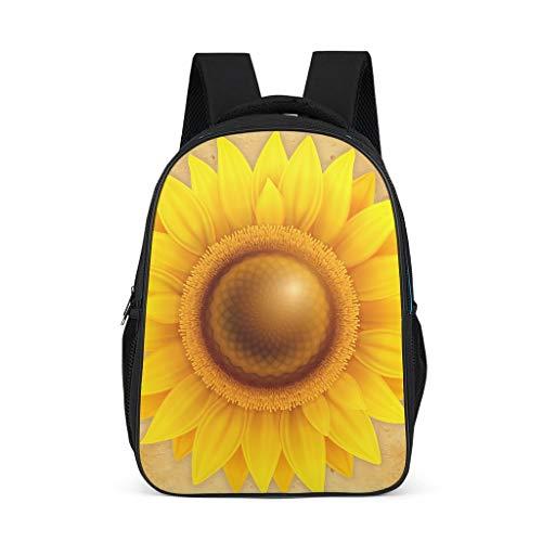 Mochila de girasol resistente al agua bolsa de escuela regalos para niños niñas para camping casual
