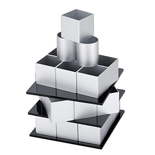 Molde de Pastel de Acero Molde de Metal 3D para moldes cuadrados para tartas Tartas y Chocolates Diseño de Tres Capas