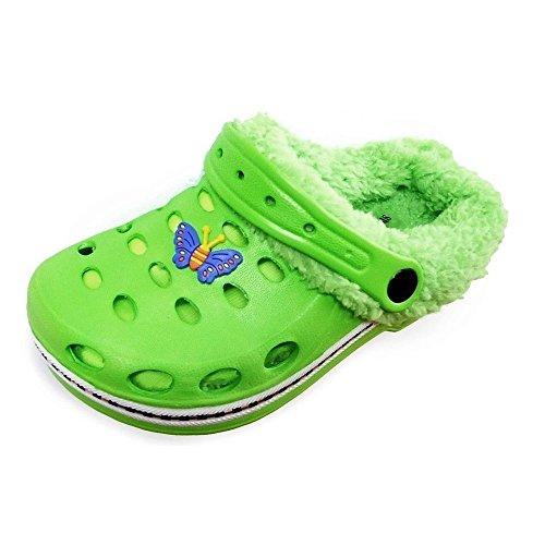 Magnus Kinder Clogs Hausschuhe Badeschuhe (20D) Badelatschen Pantoffel Pantoletten Schuhe 2 in 1 Neu ! Größe 26/27, Farbe Grün