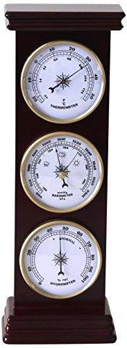 Koch stehend Wetterstation für den Innenbereich, Holz, Dunkles Braun, 36 x 11.5 x 6 cm