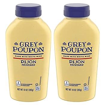 Grey Poupon Dijon Mustard 10oz Squeeze Bottle  Pack of 2