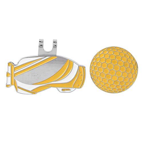 SALUTUYA Marcador de Pelota de Golf portátil de Alta Resistencia en 3 Colores, para Practicar Golf(Yellow)